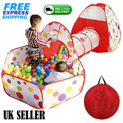 Children Play Tent House Tunnel Baby Kids Ball Pool Indoor Outdoor Playground • 20.99£