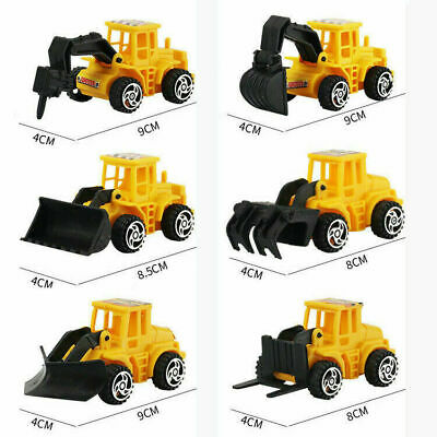 6PCS Kids  Mini Construction Truck Car Toy Digger Excavator Birthday Gift • 3.99£