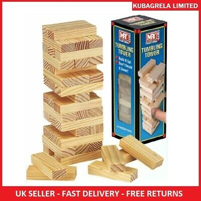 TUMBLING TOWER MINI - Traditional Wooden Stacking Travel Family Game Blocks  • 5.95£