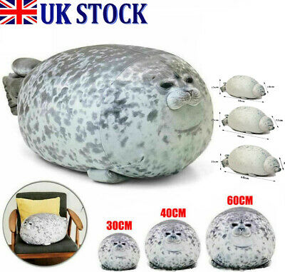 Chubby Blob Seal Plush Animal Toy Cute Ocean Pillow Pet Stuffed Doll Kid Gift UK • 10.77£