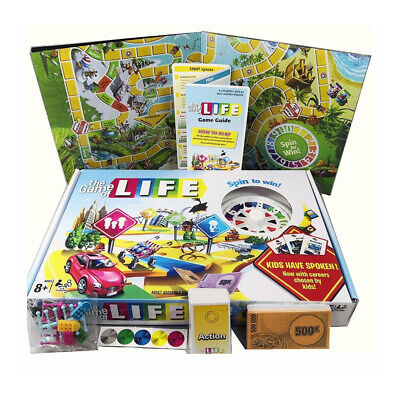 The Game Of Life Traditional Board Turntable Family Card Game Playing Set Gift • 16.98£