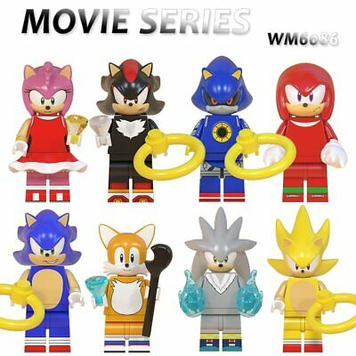 8PCS Collectible  Super Series Sonic The Hedgehog Minifigure -  Lego Compatible • 14.82£