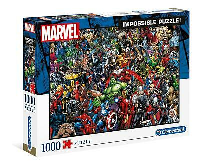 Clementoni 1000 Piece Jigsaw Puzzle Impossible Marvel • 19.99£
