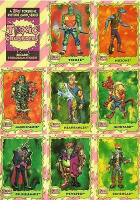 Toxic Crusaders Full Trading Card Set - 88 Cards + 8 Hologram Stickers - Topps • 4.95£
