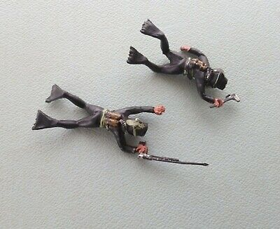 2 X Vintage 1960s Lone Star Harvey Frogmen (Speargun & Wrench Carrying) • 6.10£