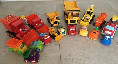 Pre-school Toy Truck Bundle - Bob The Builder, Caterpillar And Other • 5.50£