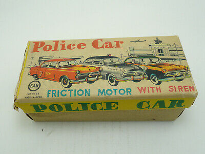 Marusan Tinplate Police Car Toy-friction Motor With Siren • 28£
