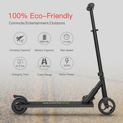 🛴Foldable Electric Scooter 250W 14MPH Aluminum Portable Teen's Kick E-Scooter • 148.76£