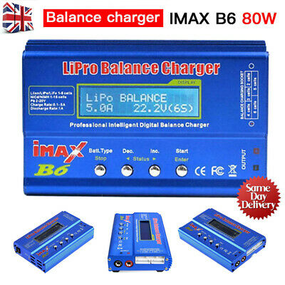 IMAX B6 80W RC Battery Charger Lipo Li-ion NiMh Battery Balance Digital Charger • 15.99£