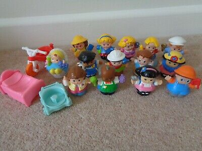 Fisher Price Little People Assorted Figures With Baby Bike Bed Pushchair Bundle  • 17£