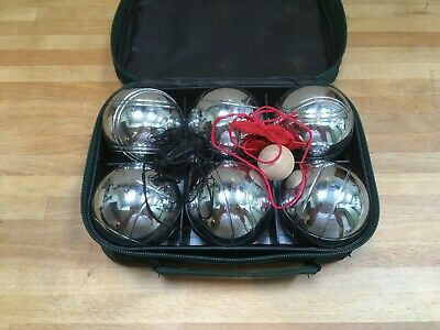 6 French Ball Stainless Steel Boules Set Petanque Outdoor Garden Game • 29.99£