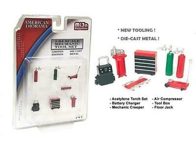 Mechanic Tool Set Red 1:64 Scale 6 Pcs American Diorama 38404 • 14.99£