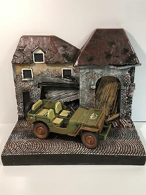 Diorama Resin 1:18 Scale Backdrop War Torn Building Auto World AWBD001A • 49.99£