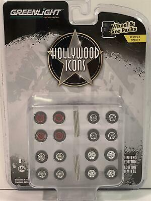 Wheel And Tyres Pack Hollywood Series 1:64 Scale Greenlight 16050C • 11.99£