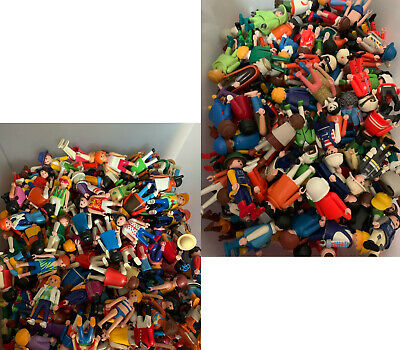 10 Random Playmobil Figures Men People Children Police Pirates Fire Victorian !! • 10.99£