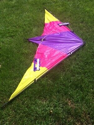 Viper Stunt Kite 6ft Wing Span Dual Control 2 Flight Handles With Bag. • 2.75£