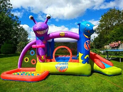 Kids Large Happy Hop Bouncy Castle With Slide And Ball Pool, Delivery! • 400£