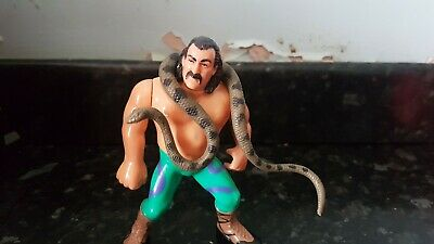Jake The Snake With Damien. WWF WWE Hasbro Series 1. Excellent Condition. • 25£