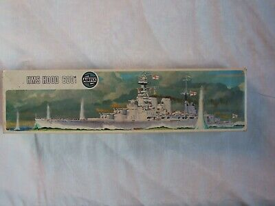 Vintage Airfix  Hms Hood - Kit Series 4 - Interior Bag Unopened With Instruction • 20£
