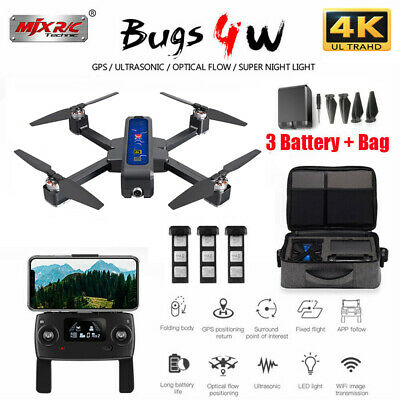 MJX B4W Bugs Camera 4K HD 5G WIFI FPV GPS RC Drone Quadcopter Altitude Hold UK • 191.75£