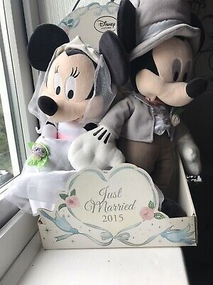 Disney Store Exclusive Minnie And Mickey Mouse Just Married 2015 • 20£
