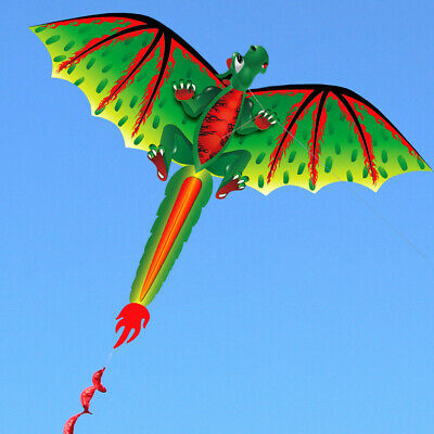 3D Dragon 100M Single Line Kite With Tail Kids Outdoor Toy Funny Flying Activity • 11.53£