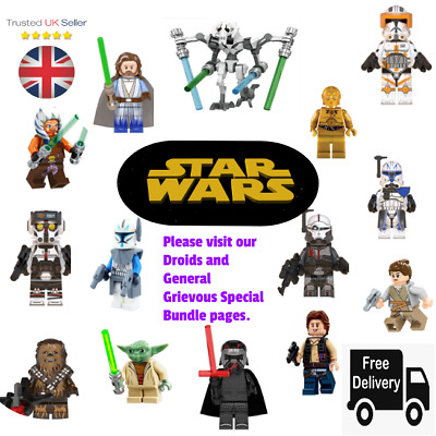 Star Wars Custom Lego Mini Figures DC Rex Yoda Clone Droids - SEE OUR PAGE 2  • 11.99£