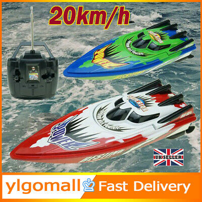 Remote Control Twin Motor High Speed Boat RC Racing Outdoor Toys With Radio • 12.79£