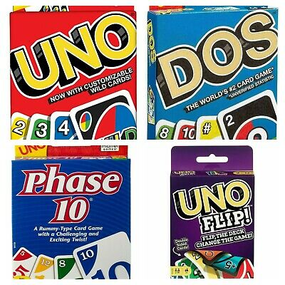 UNO Card Game Bundled Dos, Flip Uno Multi Color, Family Fun Game Choose • 12.99£