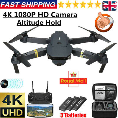 Drone X Pro WIFI FPV 4K HD Camera 3Batteries Foldable Selfie RC Quadcopter • 32.95£