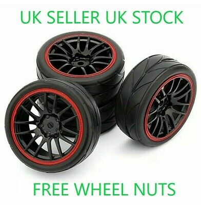 😀1/10 Uk Rc On Road Car Wheels Tires Tyres Foam Inserts Traxxas Tamiya Hsp😀 • 15.98£