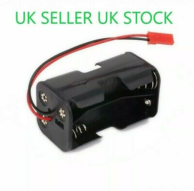 😀nitro Rc Battery Box Case Holder Pack 4 X Aa Compatible Jst 2 Pin😀 • 6.45£