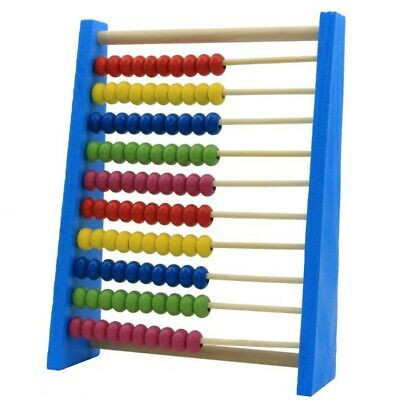 Childrens 20cm Wooden Bead Abacus Counting Frame Kids Educational Maths Toys S2Z • 3.77£