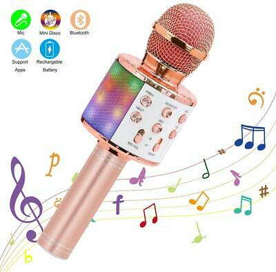 Wireless Bluetooth Microphone Karaoke Speaker Handheld 6-10 Year Kid Xmas Gifts • 10.59£