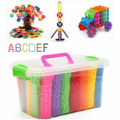 600P ASSORTED KIDS CREATIVE TOYS FAMILY BUILDING CONSTRUCTION BRICKS BLOCK Color • 9.99£