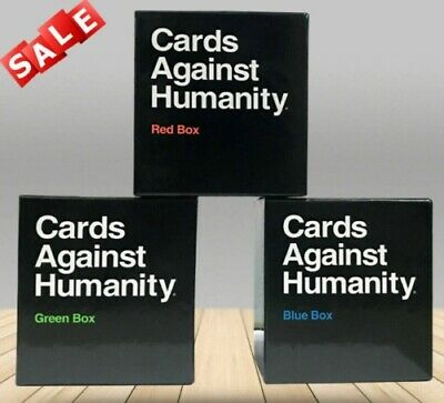 Cards Against Humanity UK Expansion Red+Green+Blue Box(3 Pack) • 15.75£