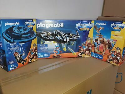 Playmobil The Movie Trio Pack 70070 / 70071 / 70072  Over 50 % Off SRP !!! • 15.95£