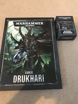 Warhammer 40k Drukhari Codex And Datacards • 22£