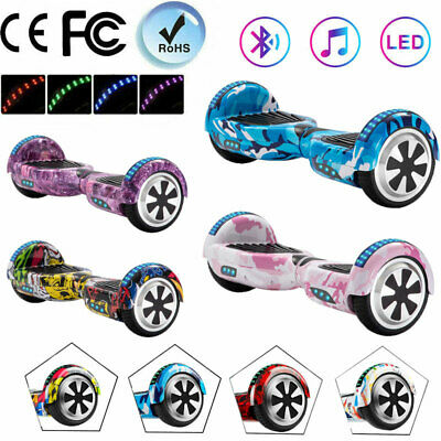 Electric Scooters 6.5  Hoverbord Self-Balancing Scooter Bluetooth 2 Wheel Board • 119£