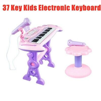 Kids Piano Toy 37 Keys Electronic Keyboard With Microphone Musical Instrument UK • 23.99£