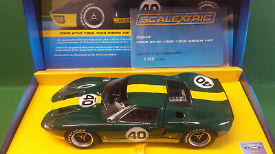 Scalextric C2942a Ford Gt40 #40 Green German Ltd Ed 2000. • 109.99£