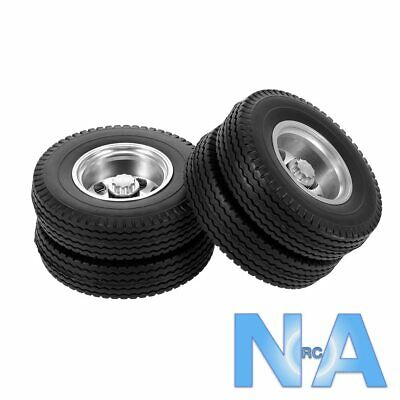 RC Tamiya Truck 1:14 Wheels And Tyres Aluminium Alloy Scale • 39.99£