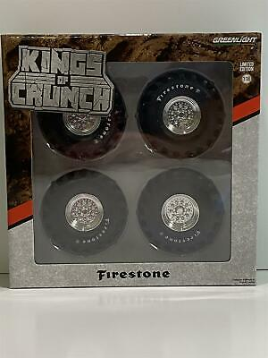 Monster Truck 48 Inch Tyre Wheels And Axle Set 1:18 Scale Greenlight 13546 • 24.69£