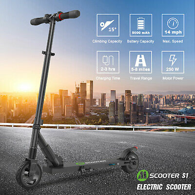 Megawheels S1 Folding Electric Scooter 250W Portable Ultra-light Kick E-Scooters • 159£