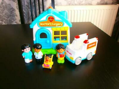 Elc Happyland Doctors Surgery Set Vehicle And Figures New Style • 8.99£