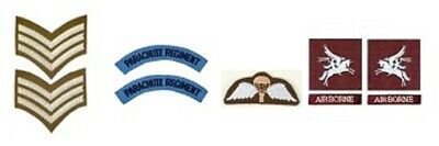 1/6 Scale WW2 British Parachute Regiment Pre 1944 Patch Lot • 3.50£