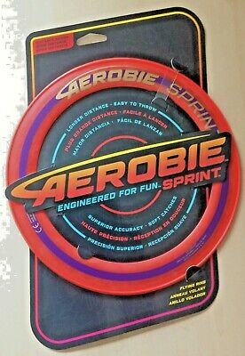 Aerobie Sprint Ring 10  Flying Disc Outdoor Frisbee  Orange/Pink • 8.95£