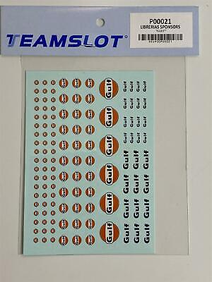 Teamslot P00021 Gulf Decals 1:32 Scale New • 7.49£