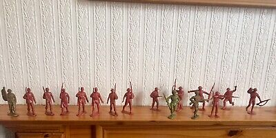 16 WW2 Soldiers 60mm Vintage British And Americans • 15£