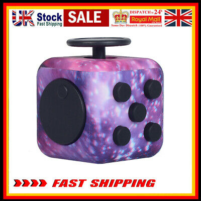 Fidget Cube Toy Stress Anxiety Relief Desk Relief 6 Sided For Adults Kids Focus • 4.99£